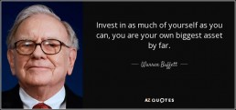 The Life Upgrades - Warren Buffet quote
